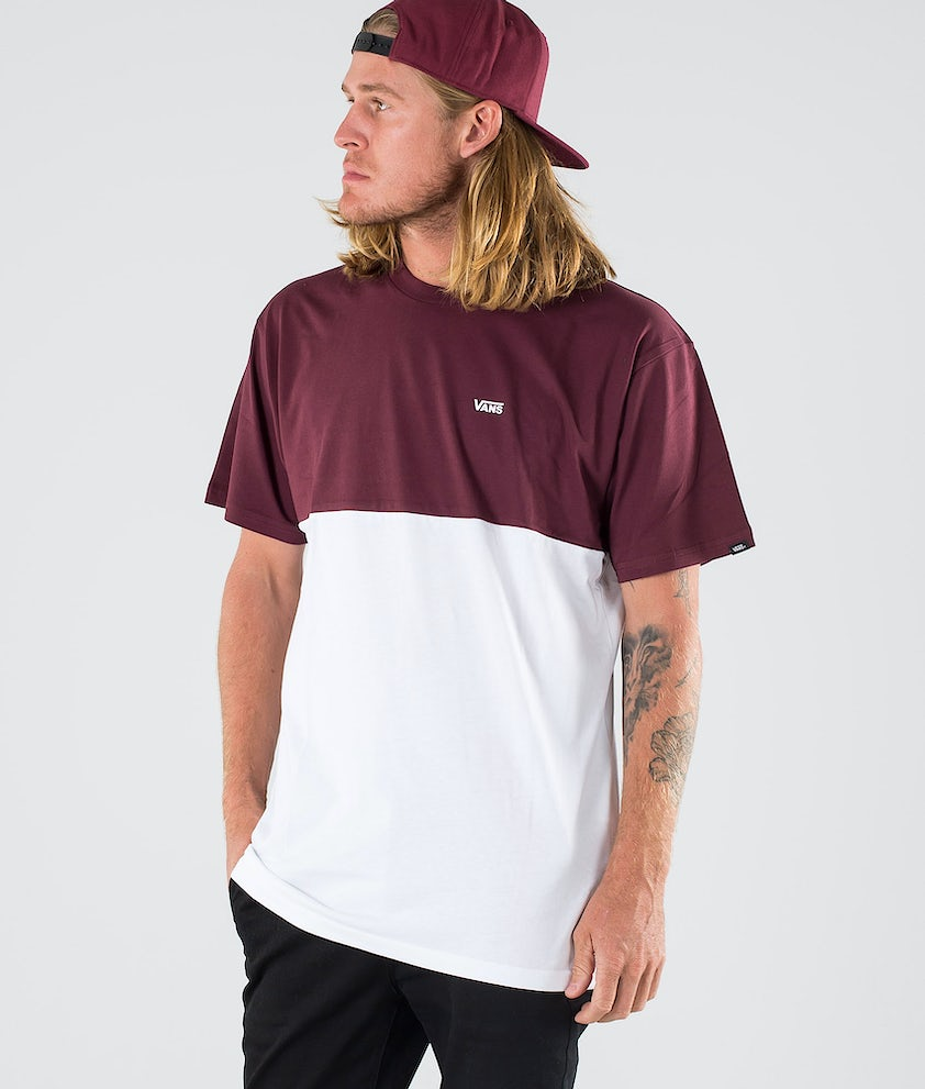 Vans Colorblock T-shirt Port Royale/White