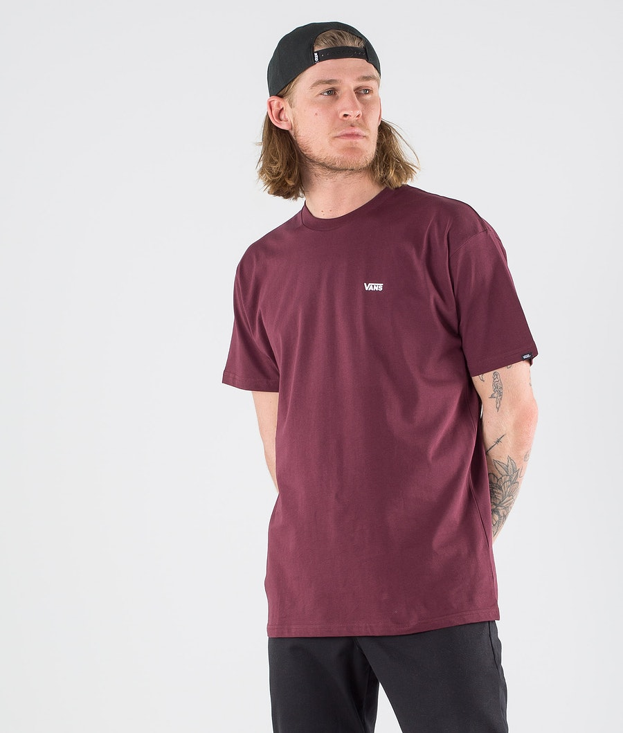 Vans Left Chest Logo T-shirt Port Royale/White