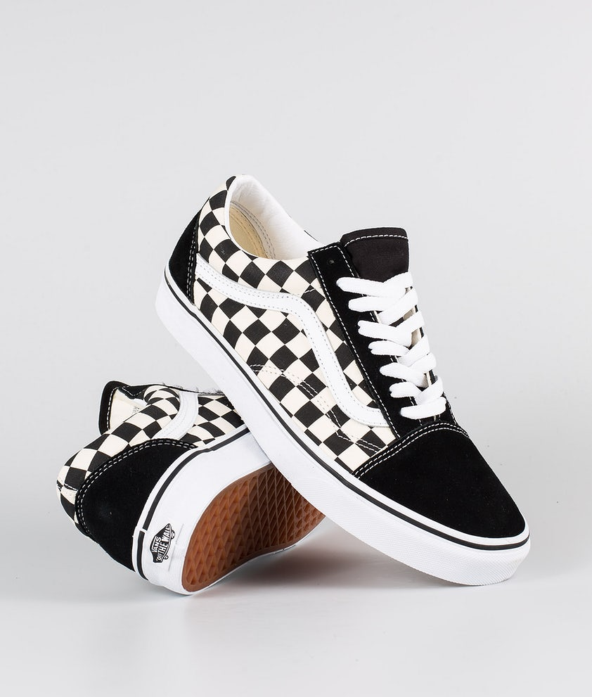 Vans Old Skool Sko (Primary Check) Black/White