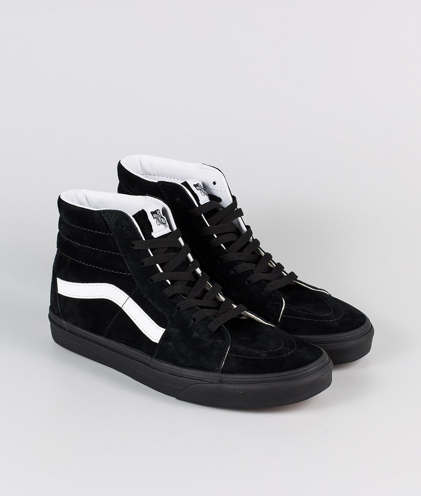 Vans SK8-Hi Shoes (Pig Suede) Black/Black