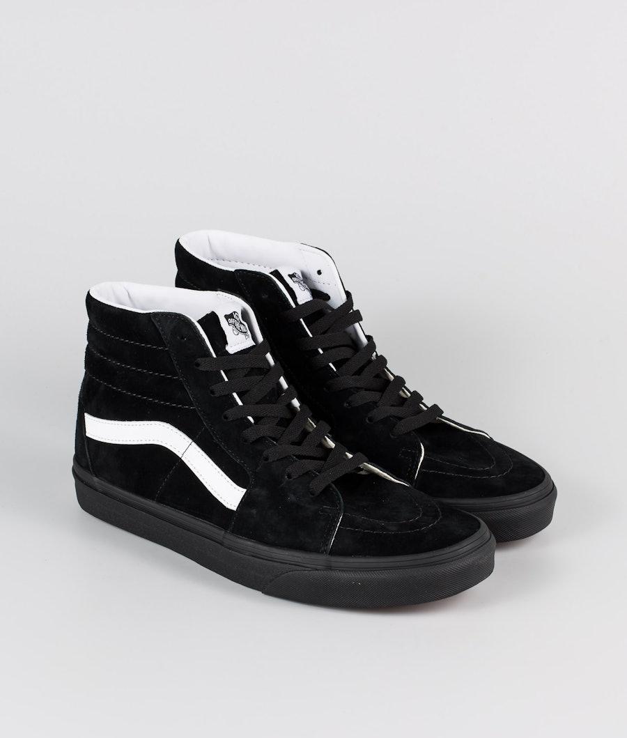 Vans SK8-Hi Shoes (Pig Suede) Black/Black