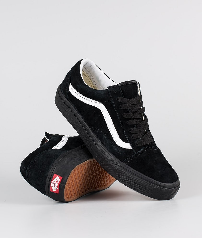 Vans Old Skool Shoes (Pig Suede) Black/Black
