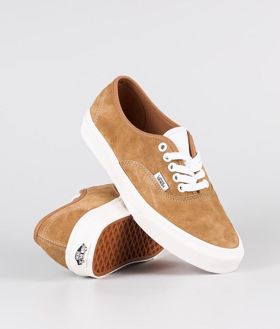 Vans Authentic Shoes (Pig Suede)Brown Sugar Snow White