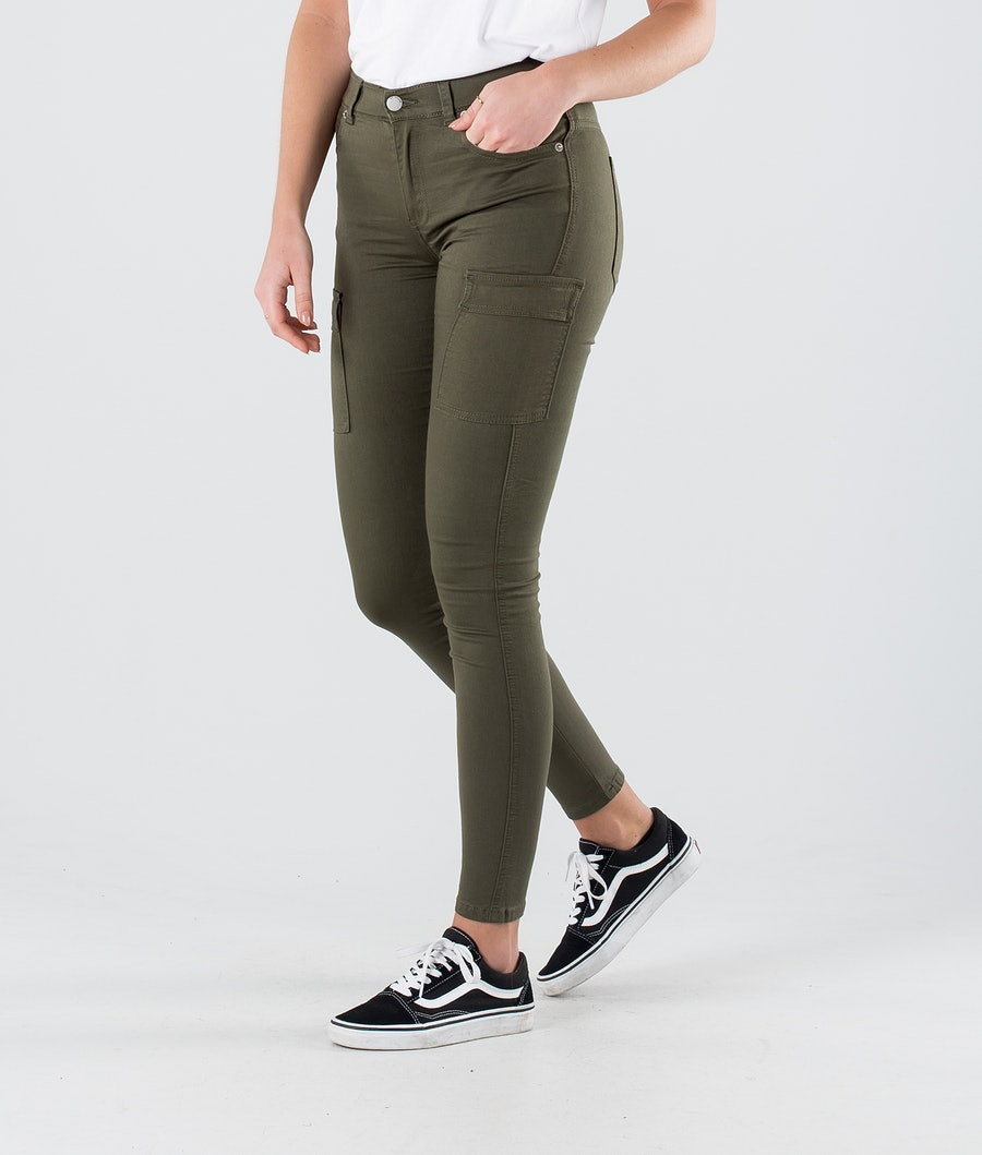 Dr Denim Lexy Cargo Pantalon Dark Emerald