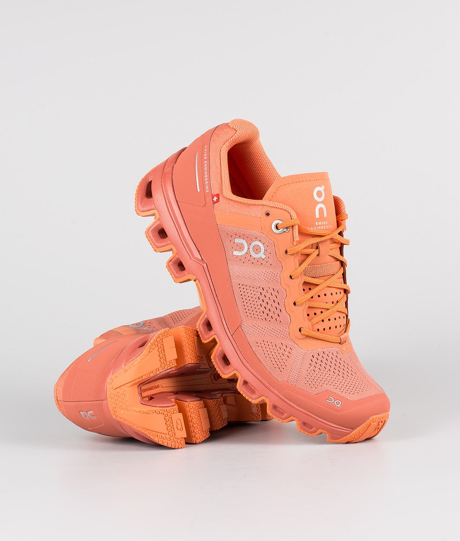 On Shoes W Cloudventure Sko Sandstone/Orange