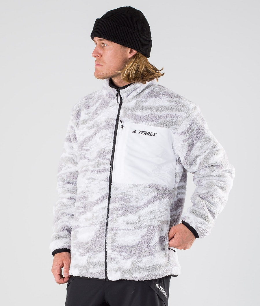 Adidas Terrex XPLR Sherpa Jacket Grey Three