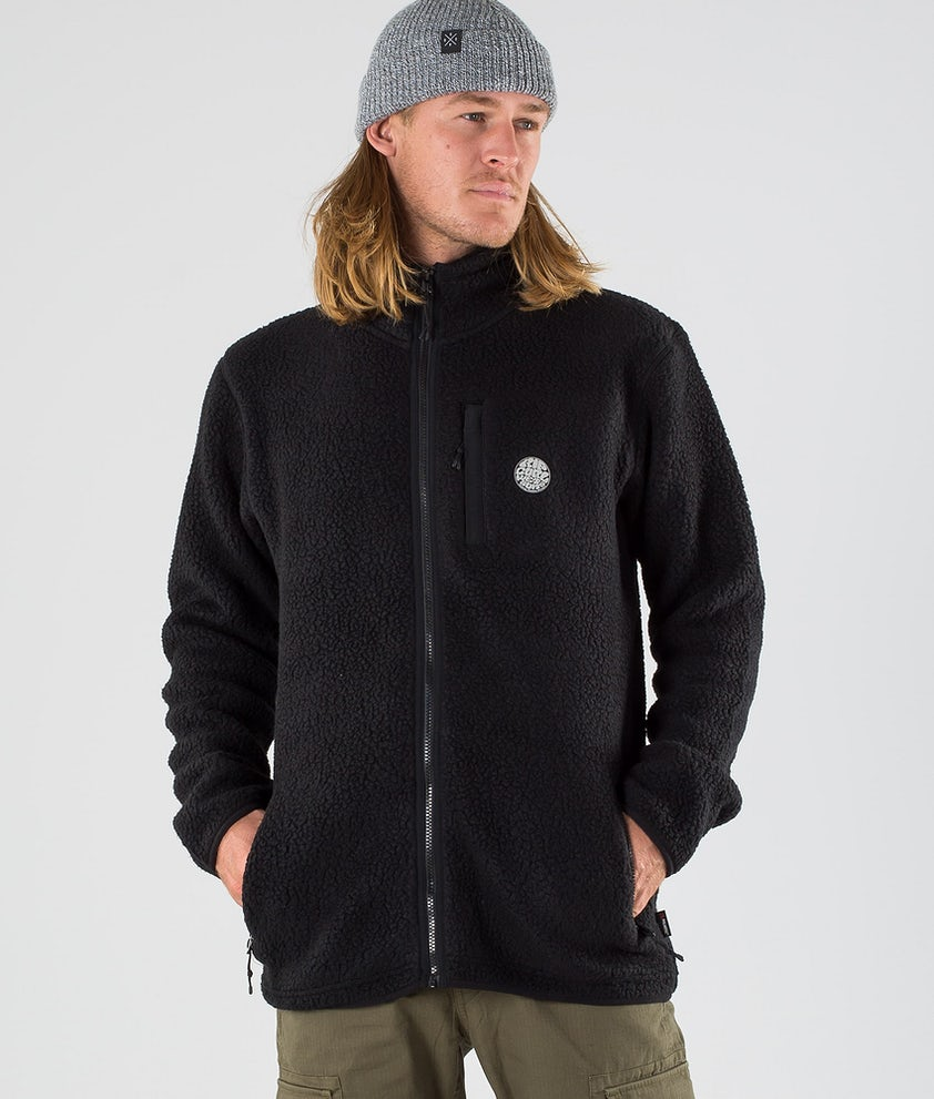Rip Curl Fireside Zipper Crew Sweatshirt Black