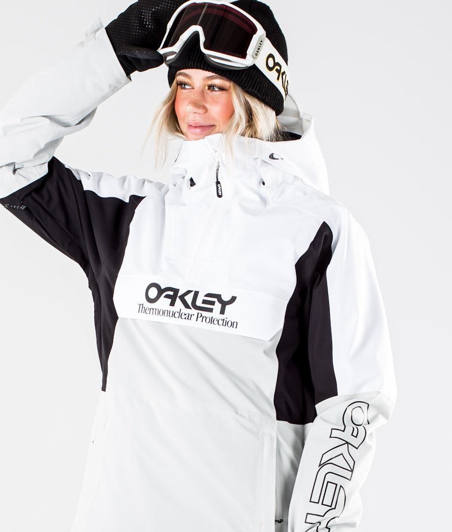 Oakley Insulated Anorak Snowboardjacka Dam White/Grey