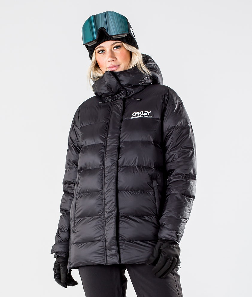 Oakley Winter Pine DWR Puffer Snowboard Jacket Blackout