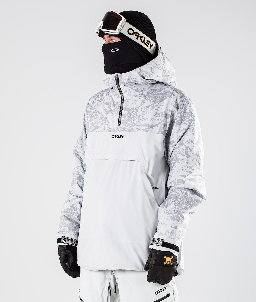 Oakley Ice Pullover BZI Snowboardjacka Grey Mountains