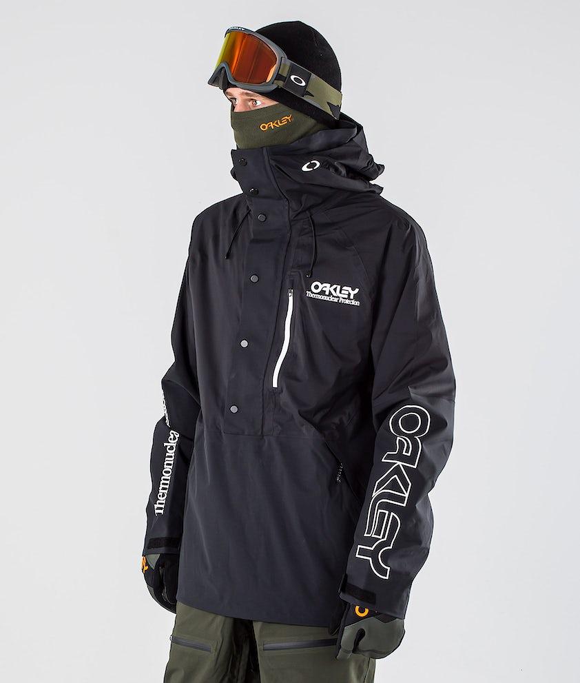 Oakley Lined Shell Anorak Snowboard Jacket Blackout