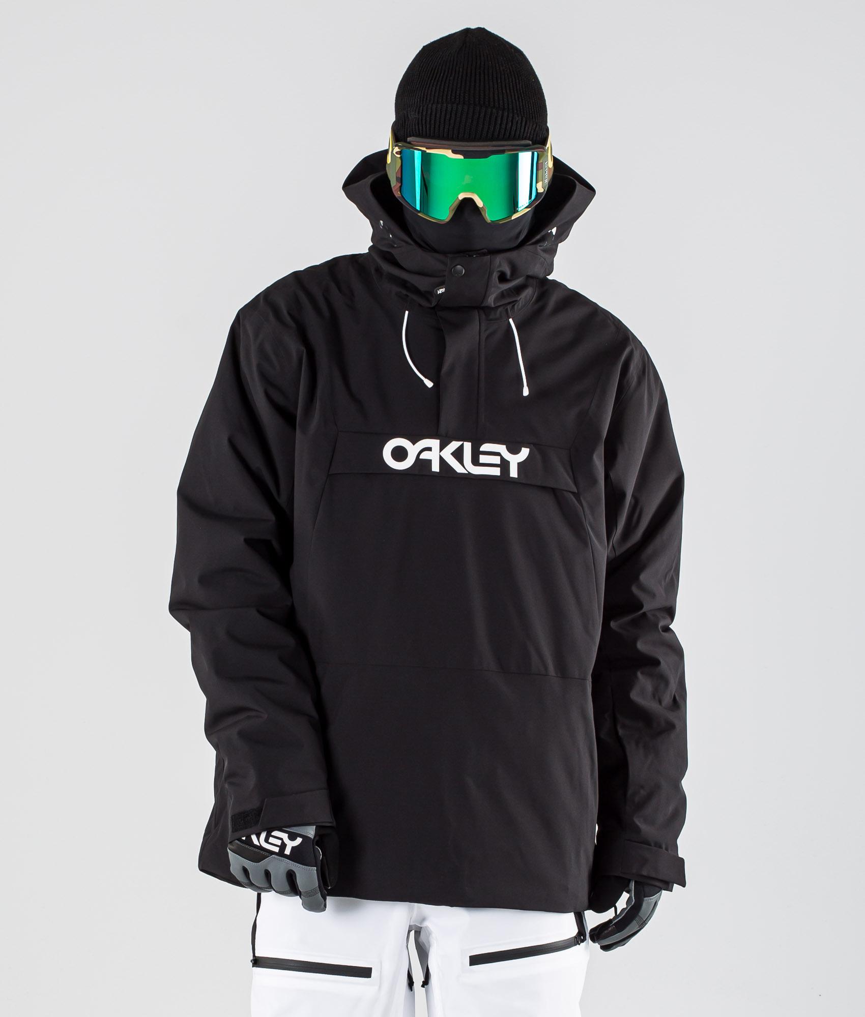 Oakley Insulated Anorak Snowboardjakke Blackout Ridestore.no