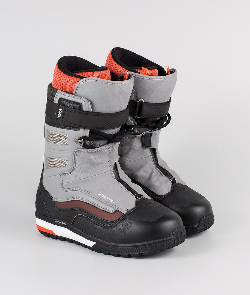 Vans Hi-Country & Hell-Bound Snowboard Boots (Sam Taxwood) Gray/Black