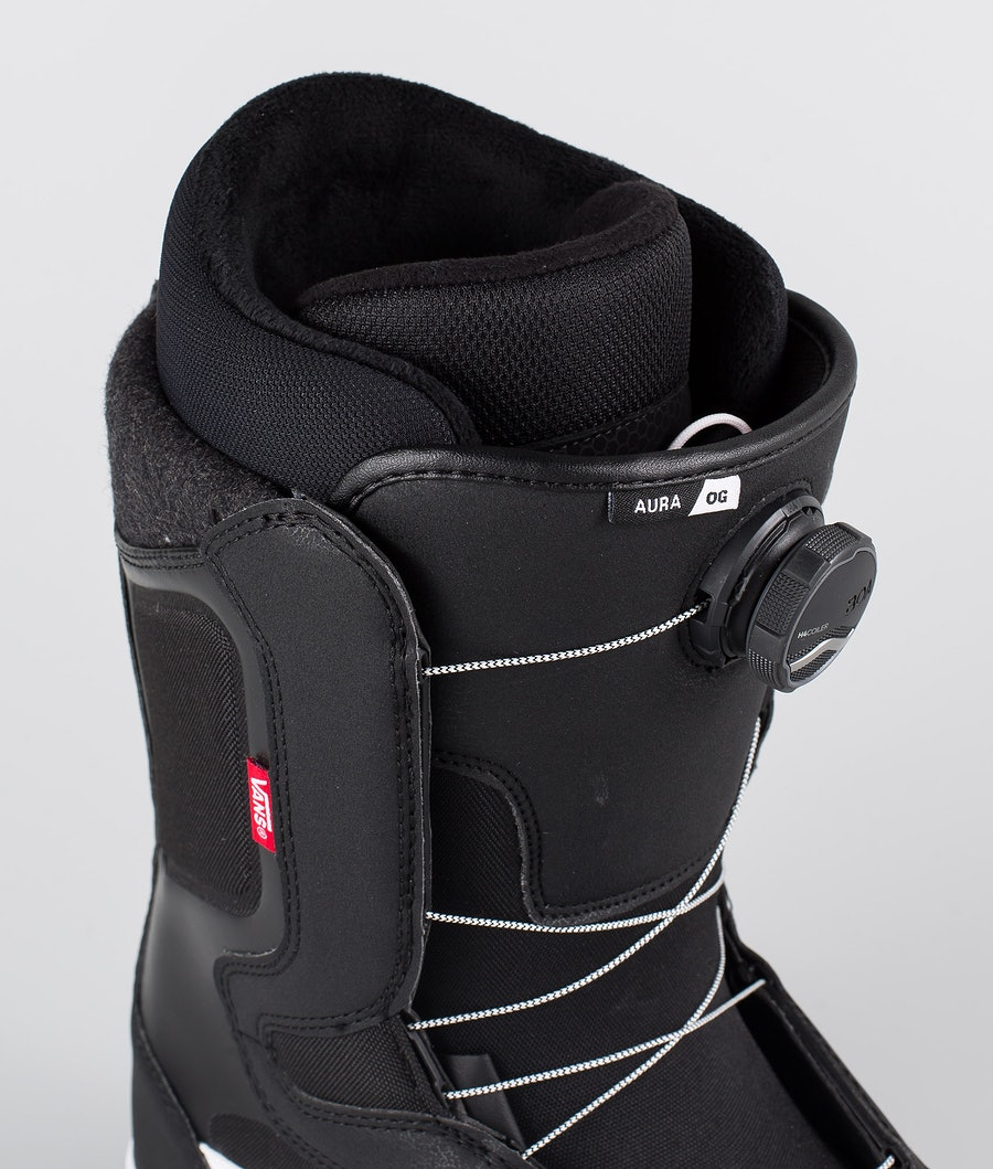 Vans Aura OG Snowboard Boots Black/White 20