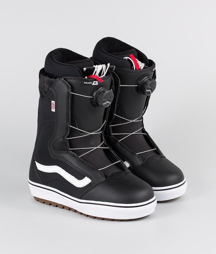 Vans Encore OG Snowboard Schoenen Black/White 20