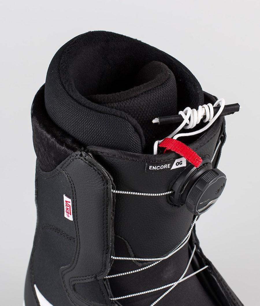 Vans Snowboarding Encore OG Boots Snowboard Femme Black/White 20