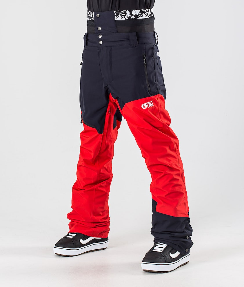 Picture Alpin Snowboardbyxa Red Dark Blue