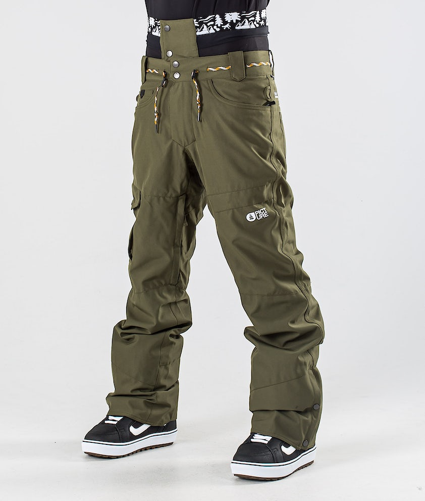 Picture Under Snowboard Pants Army Green