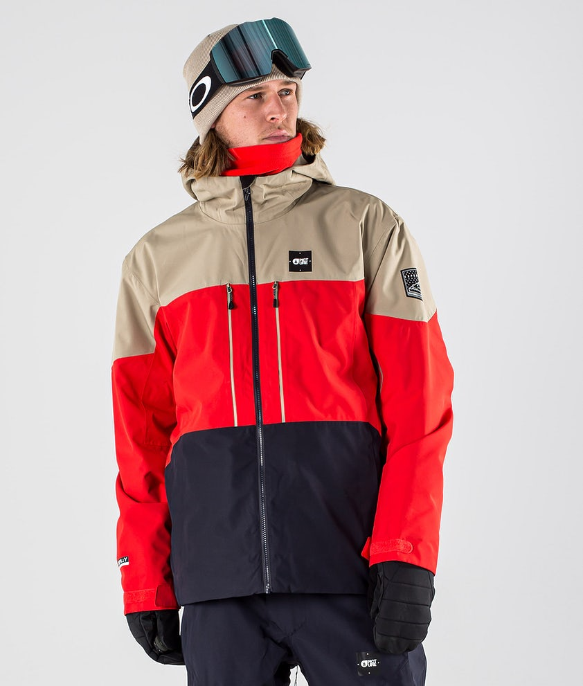 Picture Picture Object Snowboardjacka Red Dark Blue