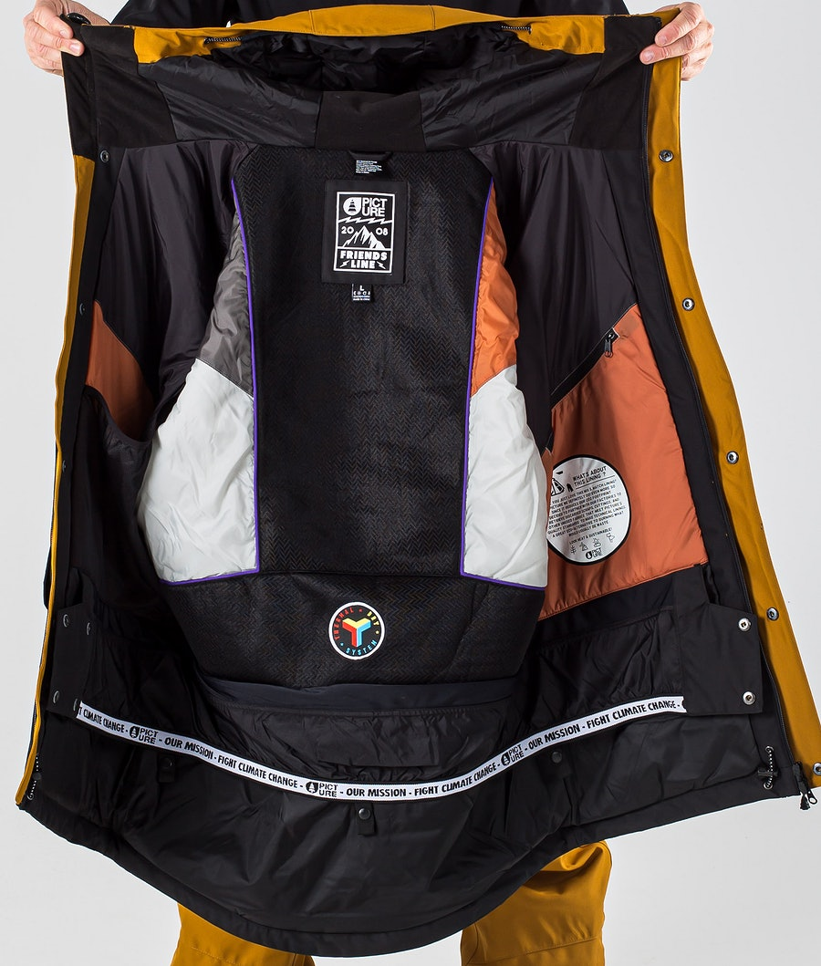 Picture Pure Snowboard Jacket Camel Black
