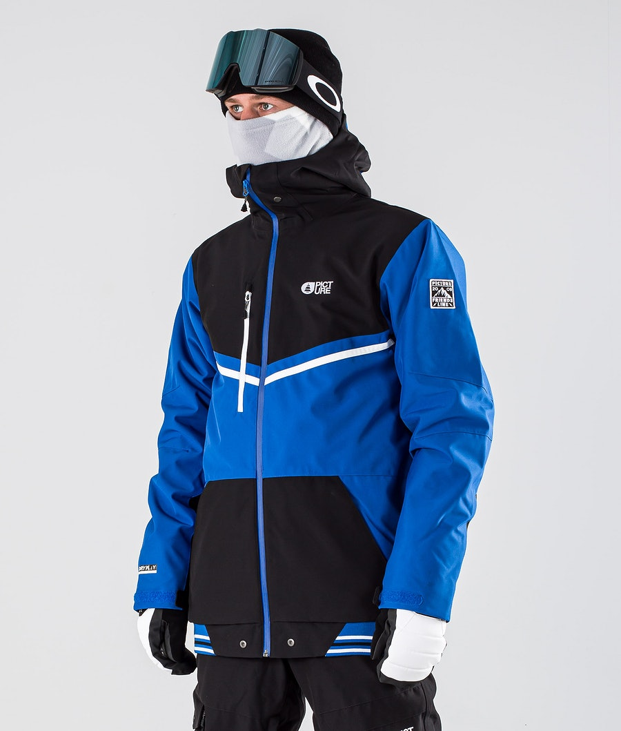 Picture Panel Snowboard Jacket Black Blue