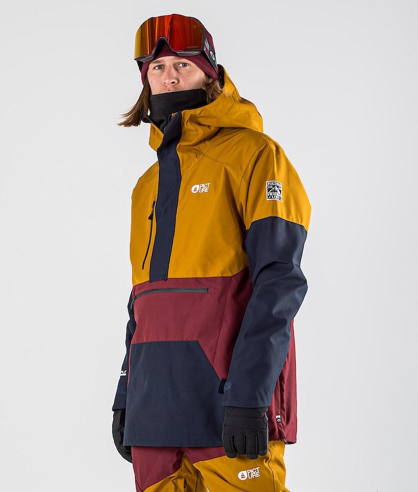 Picture Trifid Snowboardjacke Camel Dark Blue