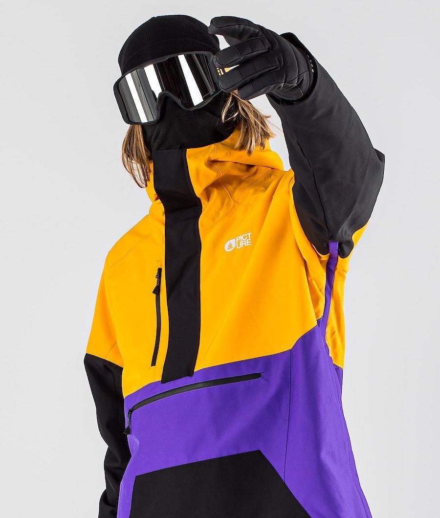 Picture Trifid Snowboardjacka Yellow Black