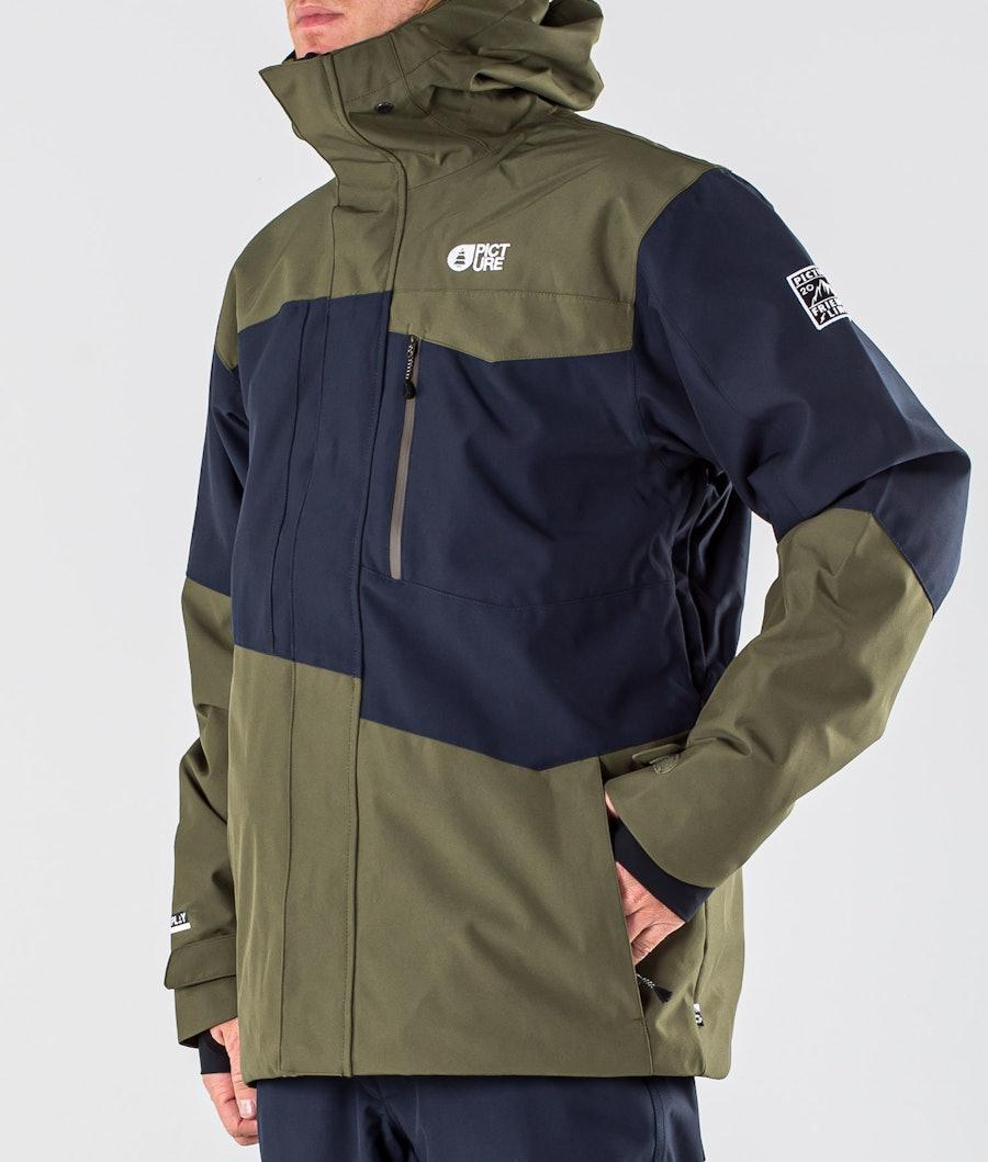 Picture Styler Snowboardjacka Dark Blue Army Green