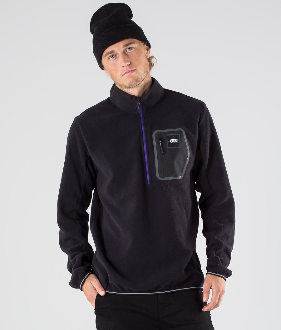Picture Thomas 1/4 Zip Fleece Trui Black