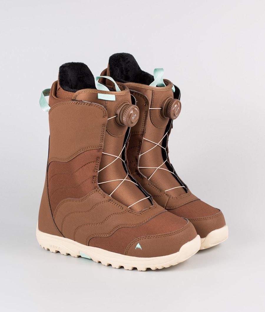 Burton W Mint Boa Boots Snowboard Brown