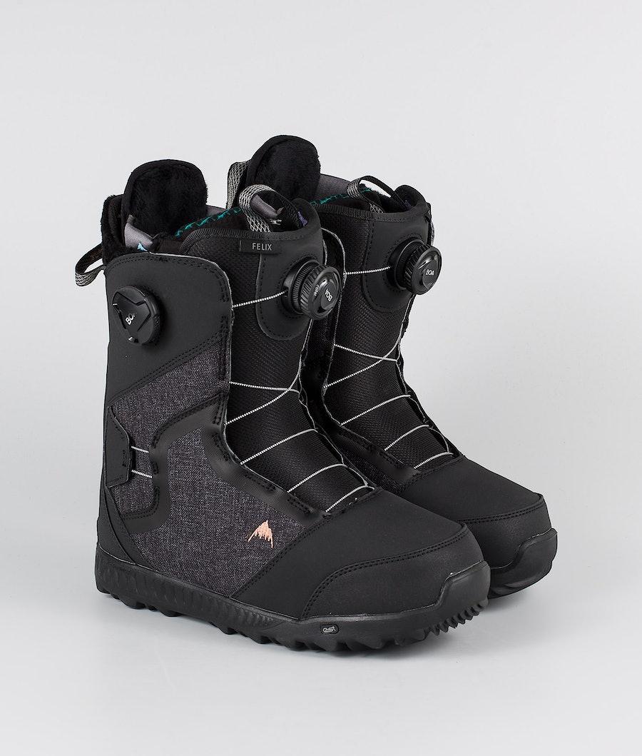 Burton Felix Boa Snowboard Schoenen Black