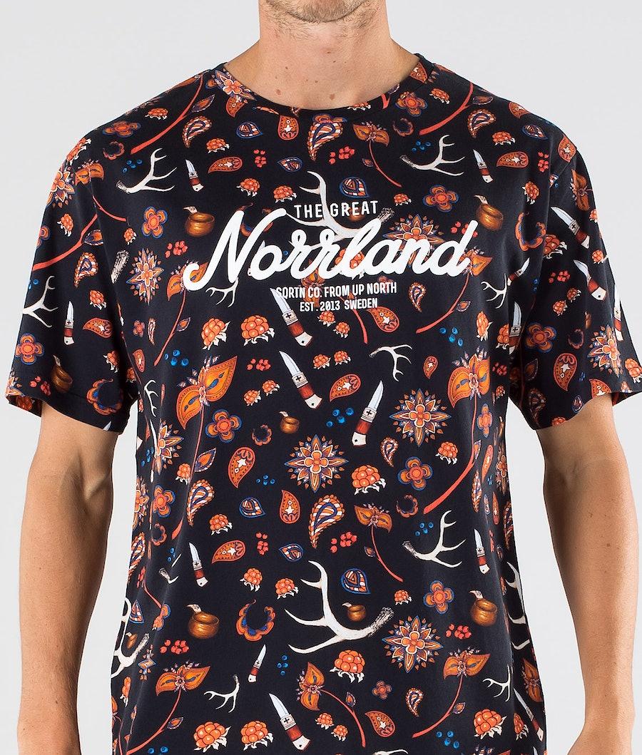 SQRTN Great Norrland T-shirt Sapmi Black