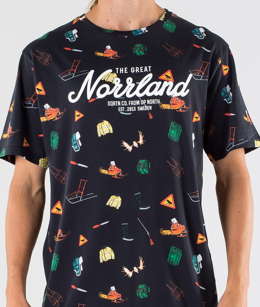 SQRTN Great Norrland T-shirt Icons Black