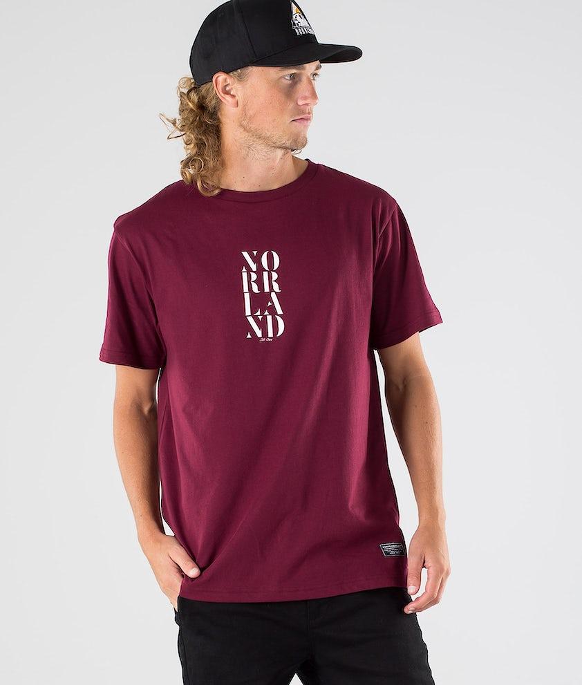 SQRTN Stencil 2 T-shirt Dark Burgundy