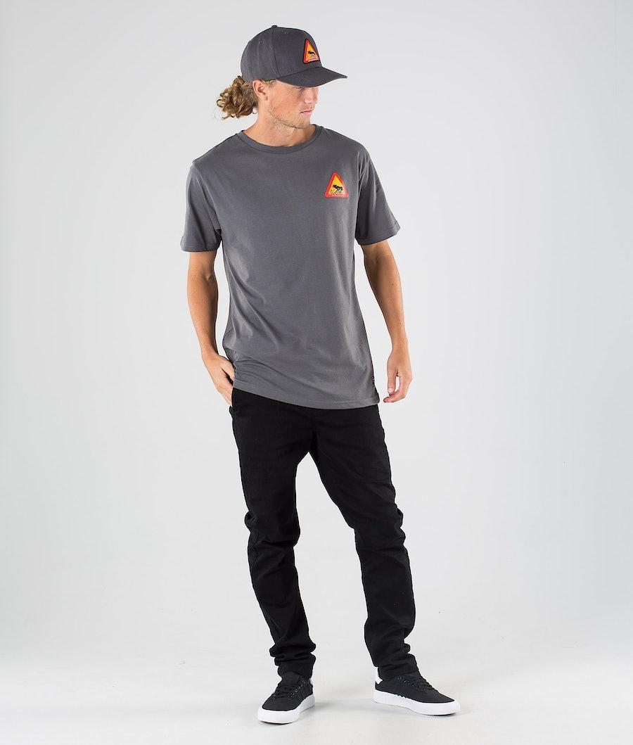 SQRTN Warning T-shirt Dark Grey