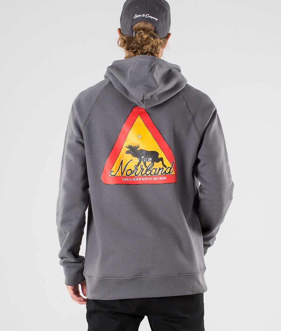 SQRTN Warning Zip Hood Dark Grey