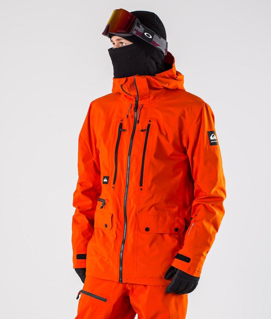 Quiksilver Black Alder 2L Gore-Tex Veste de Snowboard Pureed Pumpkin