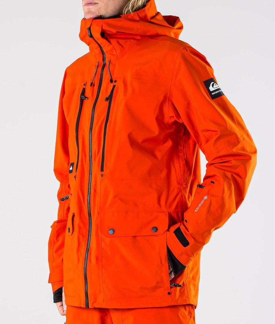 Quiksilver Black Alder 2L Gore-Tex Snowboard Jacket Pureed Pumpkin