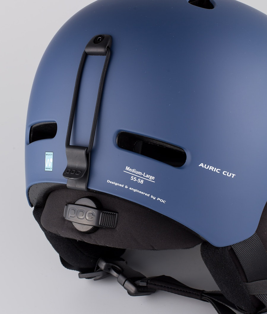 Poc Auric Cut Casco Snow Lead Blue
