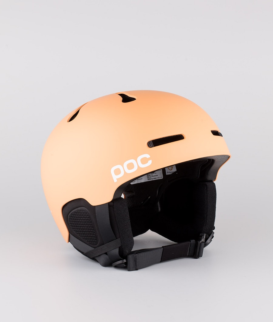 Poc Auric Cut Casco Snow Light Citrine Orange