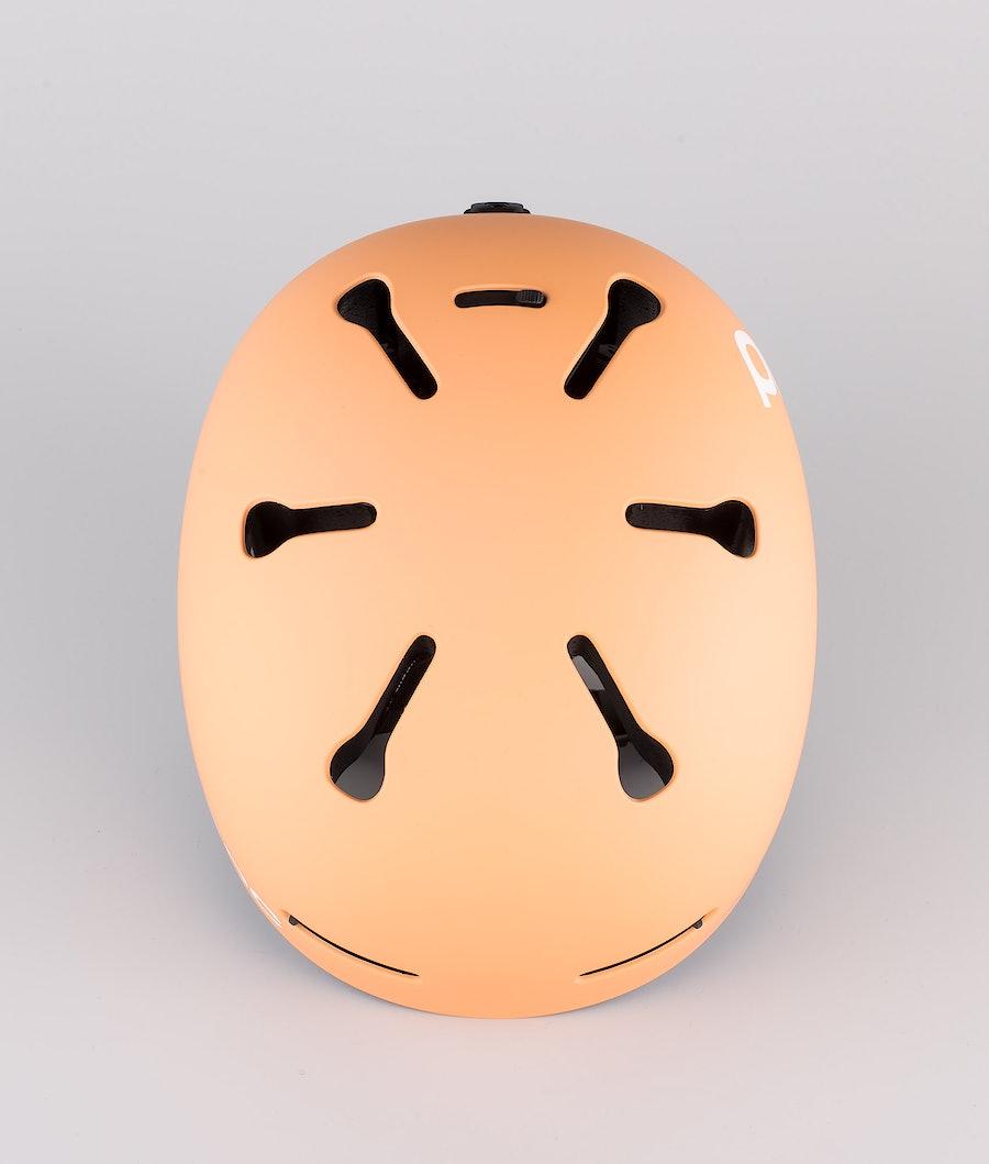 Poc Auric Cut Casco Snow Light Citrine Orange
