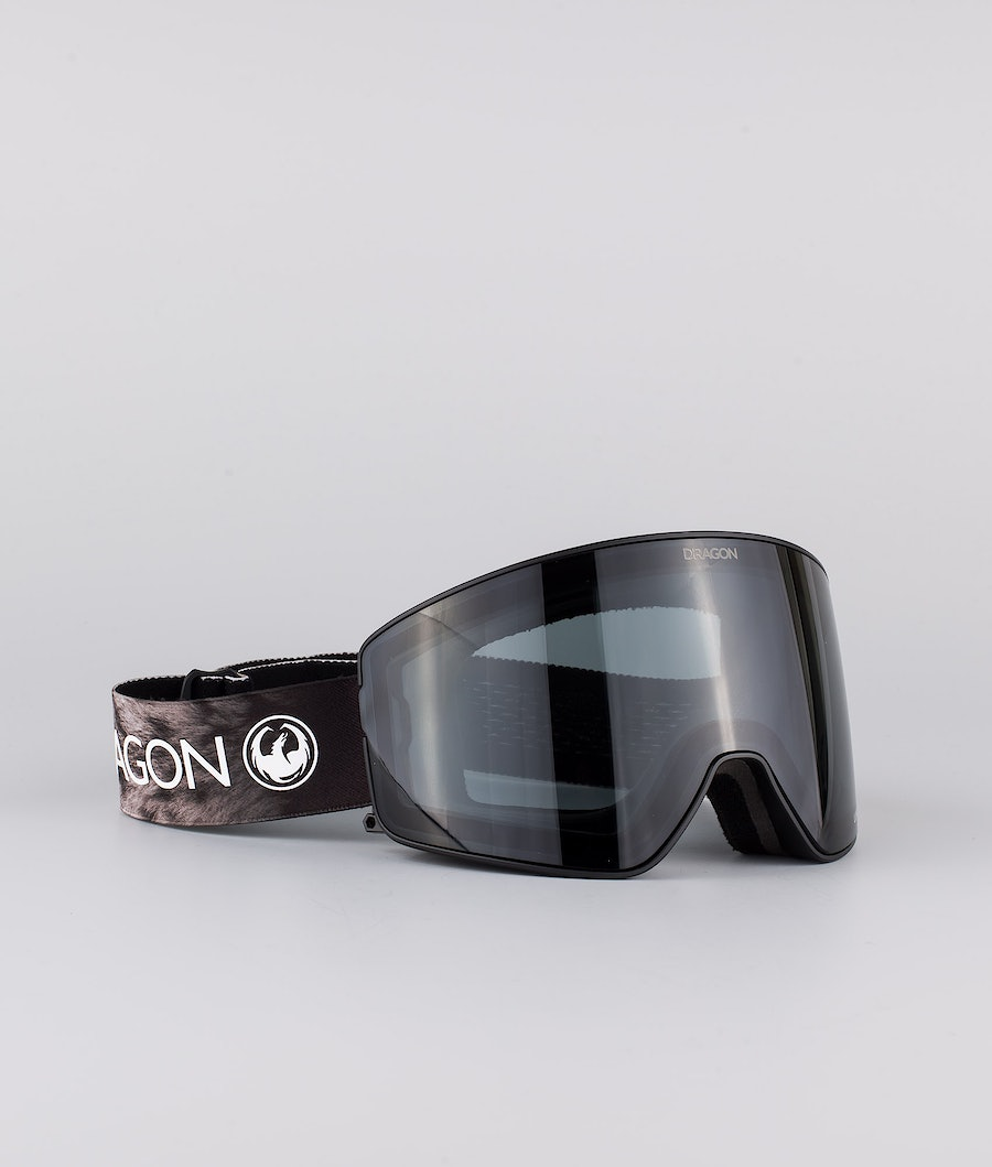 Dragon PXV2 Ski Goggle Snow Leopard w/Lumalense Dark Smoke+Lumalense Light Rose