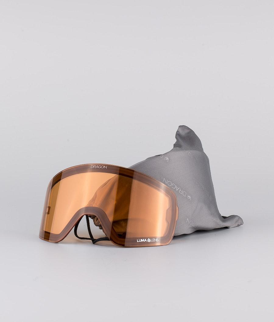 Dragon NFX2 Skibril Anthracite w/Lumalens Gold Ionized+Lumalens Amber