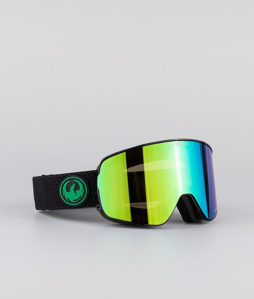 Dragon NFX2 Skibriller Split w/Lumalens Green Ionized+Lumalens Amber