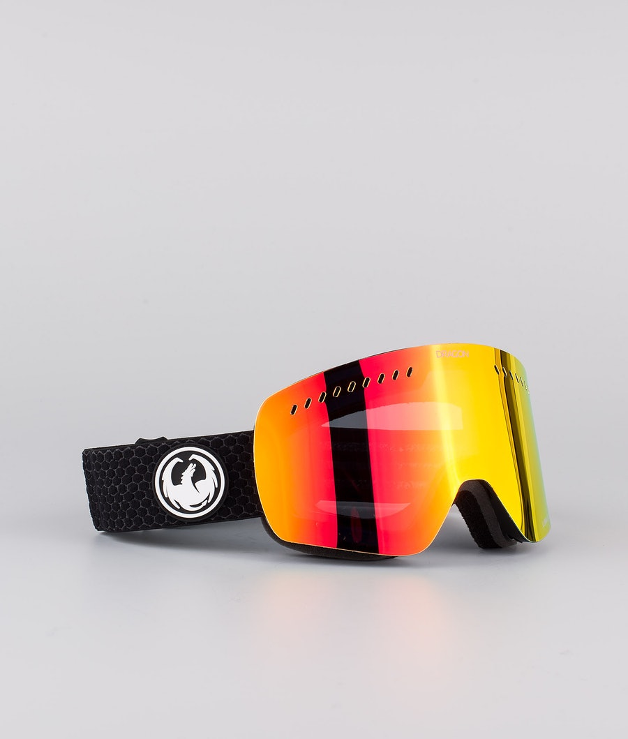 Dragon NFXs Ski Goggle Split w/Lumalens Red Ionized+Lumalens Rose