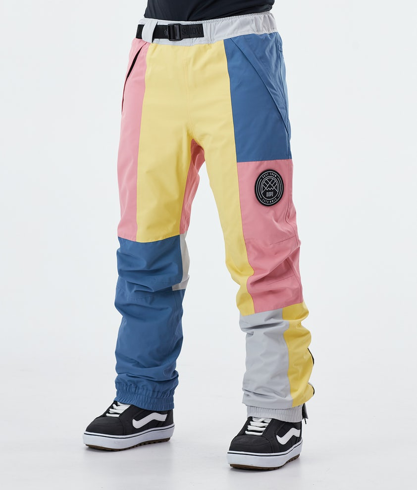 Dope Blizzard LE W Snowboard Pants Pink Patchwork