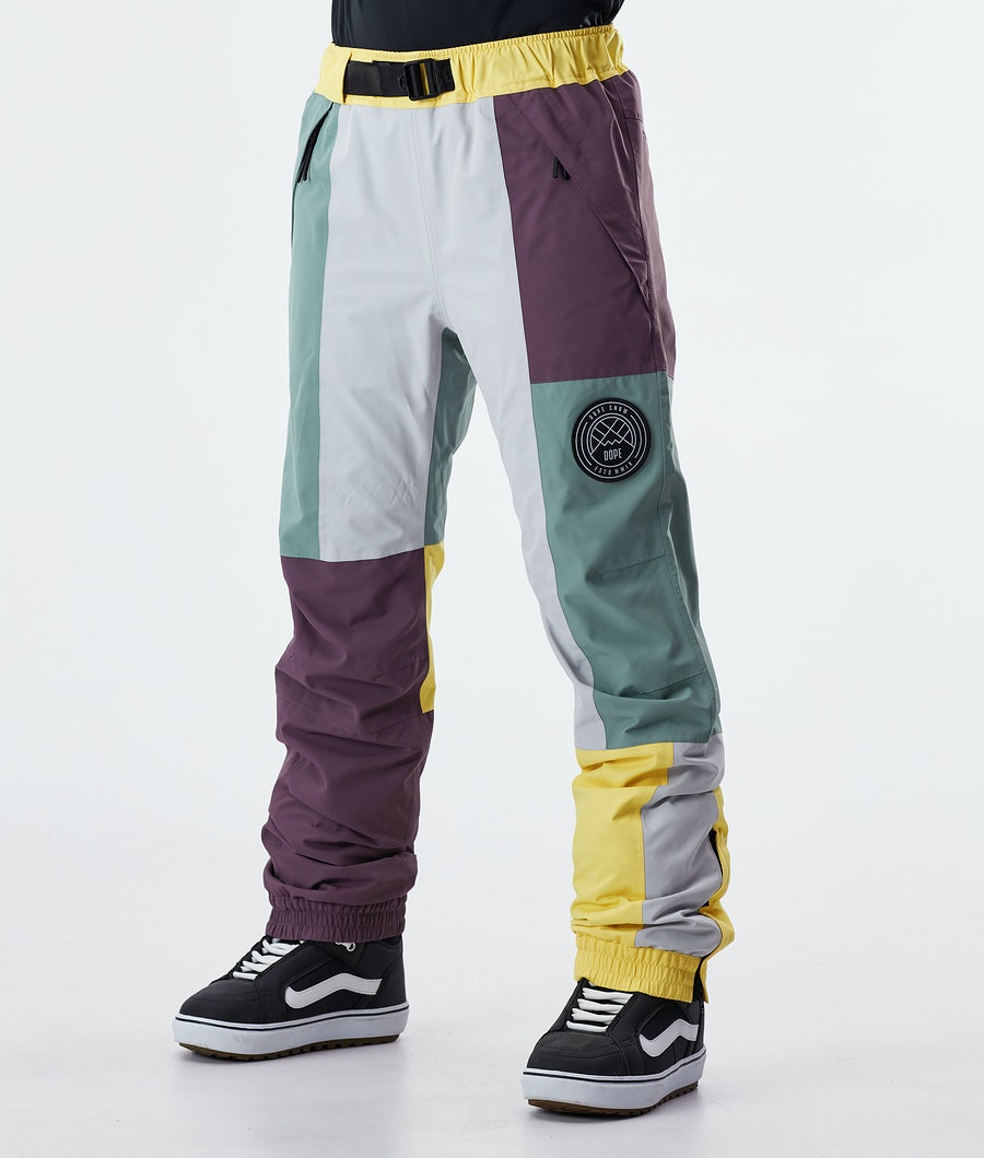 Dope Blizzard LE W Pantalon de Snowboard Faded Green Patchwork