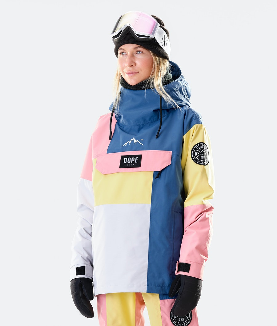 Dope Blizzard LE W Snowboard Jacket Pink Patchwork