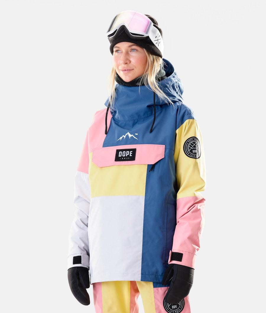 Dope Blizzard LE W Snowboardjakke Pink Patchwork