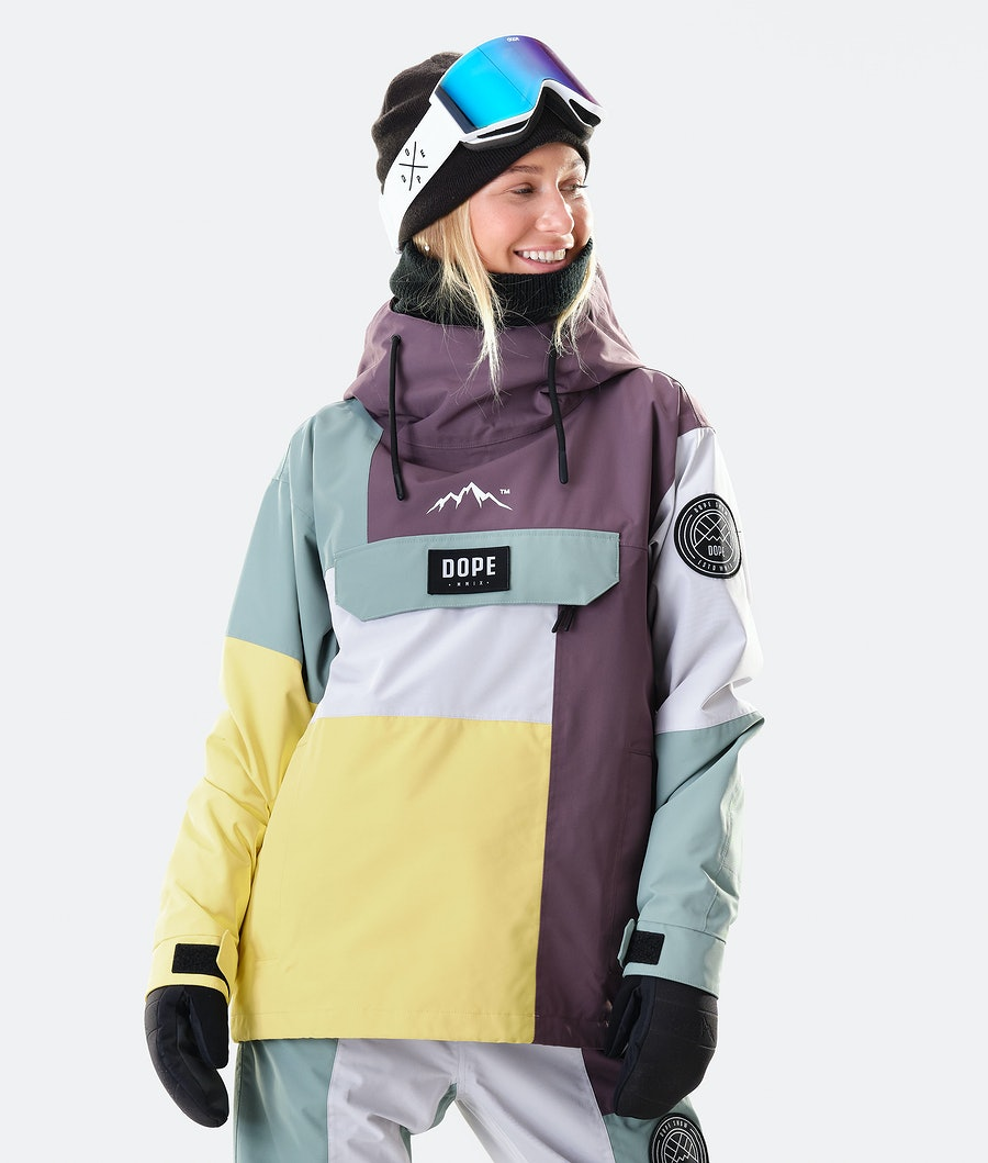 Dope Blizzard LE W Snowboard Jacket Faded Green Patchwork